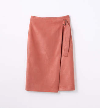 TOMORROWLAND (トゥモローランド) - トゥモローランド フェイクスエード ラップスカート