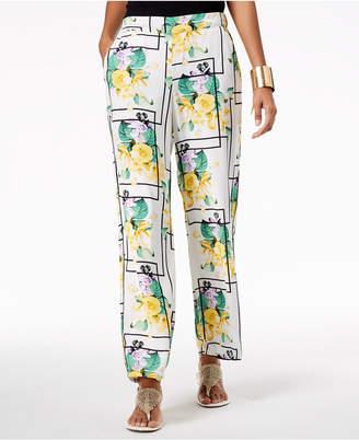 Thalia Sodi Printed Wide-Leg Pants, Created for Macy's