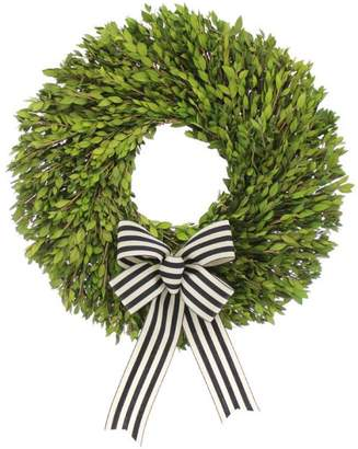 Floral Treasure Myrtle Wreath with French Ribbon