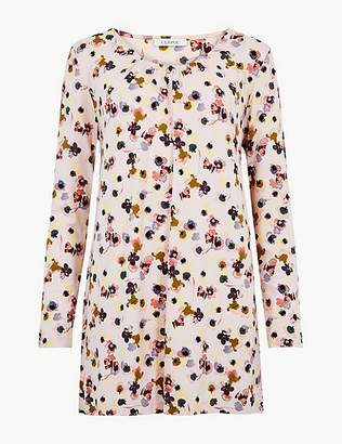 Marks and Spencer Floral Print Long Sleeve Tunic