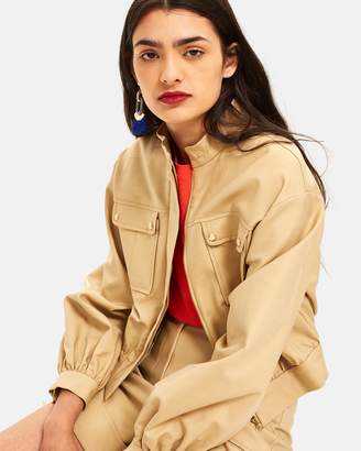 Topshop Patch Pocket Crop Jacket