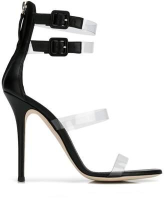 Giuseppe Zanotti Design transparent straps sandals