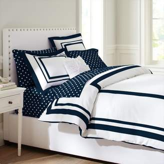 Pottery Barn Teen Suite Organic Duvet Cover, Twin/Twin XL, Royal Navy