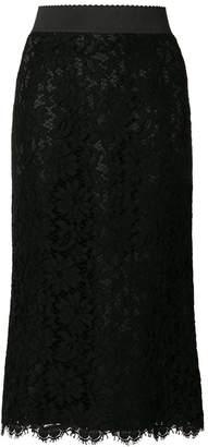 Dolce & Gabbana lace overlay skirt