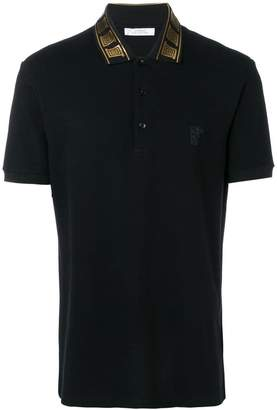 Versace collar detail polo shirt
