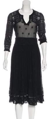 Isabel Marant Silk Midi Dress