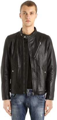 G Star Empral Deconstructed Leather Jacket