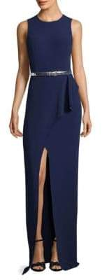 Michael Kors Belted Wrap Gown