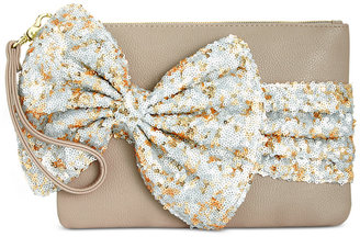 Betsey Johnson Large Sequin Bow Wristlet, A Macy's Exclusive Style $58 thestylecure.com