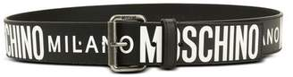 Moschino OFFICIAL STORE Leather Belt