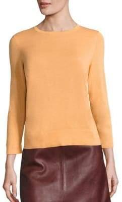 SET Cotton-Blend Crewneck Sweater