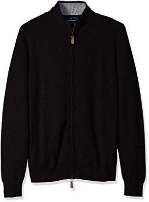 Buttoned Down Men's 100% Premium Cashmere Full-Zip Sweater