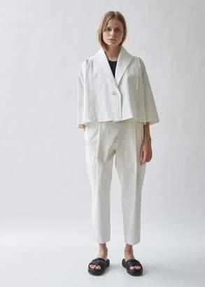 Issey Miyake Free Cut Cropped Jersey Blazer