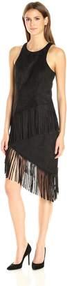Dolce Vita Women's Beatrice Vegan Suede Dress with Fringe