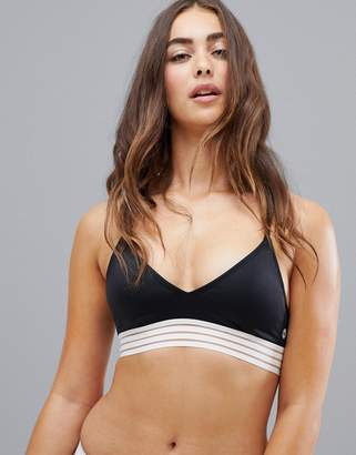Roxy fitness mod athletic triangle bikini top