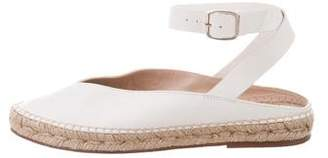 Stuart Weitzman Leather Pointed-Toe Espadrilles