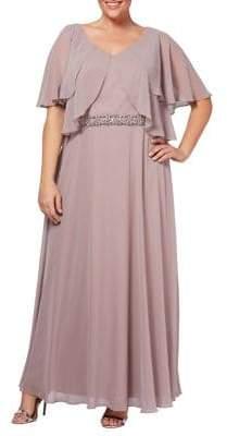 Alex Evenings Plus A-Line Gown