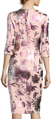 Label By 5twelve 3/4-Sleeve Foil-Print Sheath Dress