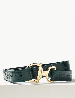 M&S Collection Ring & Bar Buckle Hip Belt