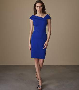 Reiss Lyn Asymmetric Bardot Dress