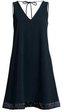 Emporio Armani Beaded Hem Sleeveless Dress