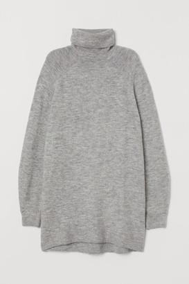 H&M Long Turtleneck Sweater - Gray