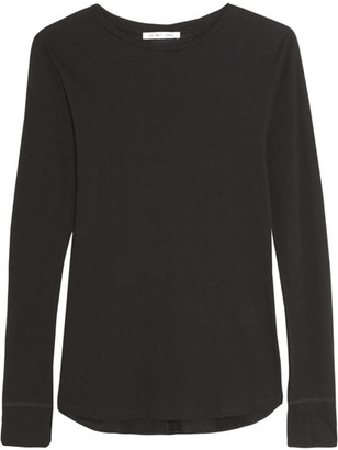 Helmut Lang - Cotton And Cashmere-blend Jersey Top - Black $175 thestylecure.com