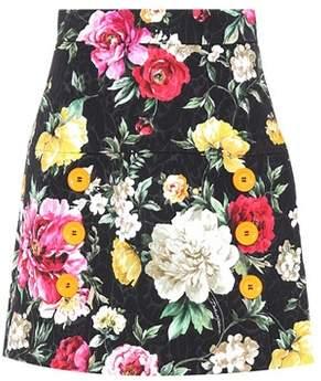 Dolce & Gabbana Floral jacquard miniskirt