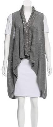 Alice + Olivia Embellished Open Knit Vest