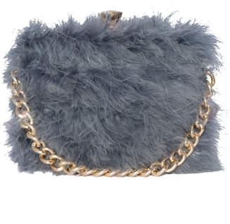 18bea86e3864 Missy Empire Missyempire Esra Charcoal Faux Fur Chain Hand Bag