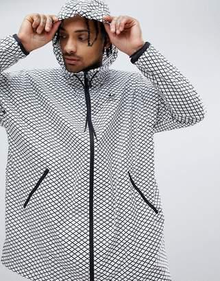 adidas PLGN Oversized Windbreaker Jacket In White CW5102