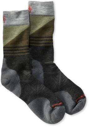 L.L. Bean L.L.Bean Men's SmartWool PhD Outdoor Socks, Medium Crew Pattern