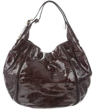 Givenchy Patent Leather Hobo Brown Patent Leather Hobo