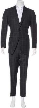 Tom Ford Plaid Wool & Silk-Blend Suit
