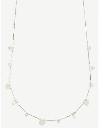 Kendra Scott Olive tabs silver-toned necklace
