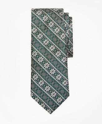 Brooks Brothers Boys Snowflake Print Tie