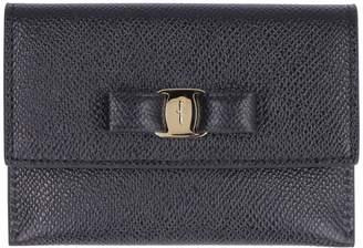 Salvatore Ferragamo Vara Bow Leather Card Holder