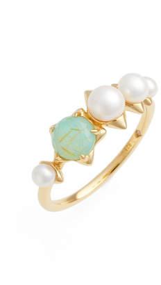 NADRI Pearl & Semiprecious Stone Ring $75 thestylecure.com