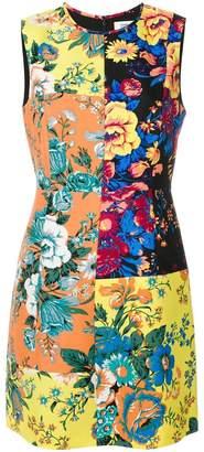 Diane von Furstenberg floral panel shift dress