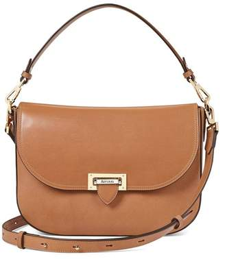 Aspinal of London Slouchy Saddle Bag In Smooth Natural Tan