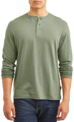 Lee Men's Long Sleeve Textured Slub Core Henley, Available Up To Size Xl