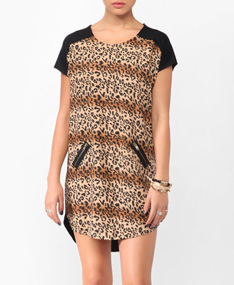 Forever 21 Wild Leopard Print Shift Dress