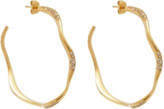 Swarovski Joanna Laura Constantine 'Feminine Waves' crystal hoop earrings