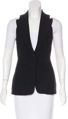 Barbara Bui Peak-Lapel Wool Vest