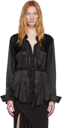 Ann Demeulemeester Black Silk Beverly Shirt