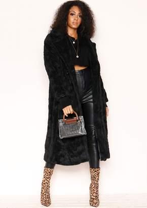 cd9558cfcab Missy Empire Missyempire Kaydence Oversized Black Teddy Faux Fur Coat