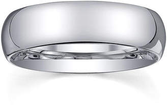 JCPenney MODERN BRIDE Personalized Mens 6mm Comfort Fit Domed Sterling Silver Wedding Band