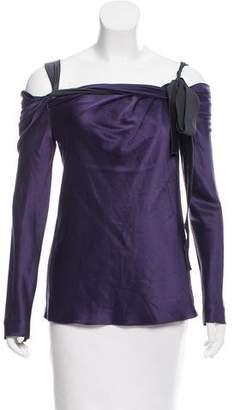 Alberta Ferretti Off-The-Shoulder Silk Top