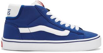 Vans Blue Schoeller Edition Mid Skool Lite LX Sneakers $105 thestylecure.com