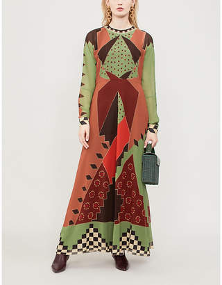 Etro Patterned silk-crepe dress